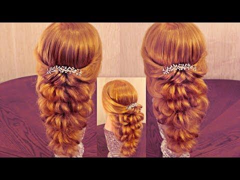 Праздничная причёска с резинками, видео урок