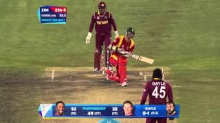 WI vs ZIM: Ervine wicket dashes Zimbabwe hopes. Watch ICC World Cup videos at starsports.com - ESPNSTAR