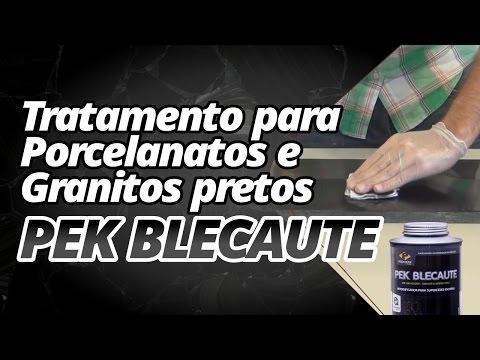 Tratamento para granitos e porcelanatos pretos com Pek Blecaute.