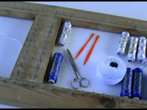 Cómo hacer tapetes de hilo de seda, Pompon (1/9) . Materiales