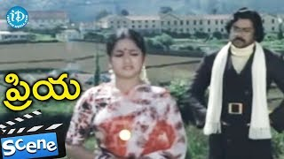 Priya Movie Scenes - Chiranjeevi And Radhika Understands Each Other || Chiranjeevi - IDREAMMOVIES
