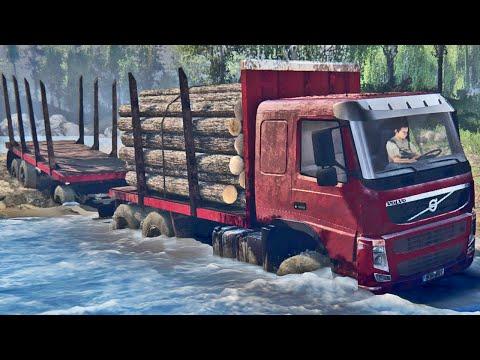 Caminhão Volvo na Lama - Spin Tires