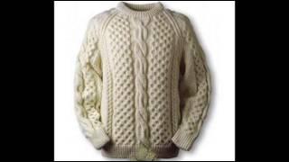 Модели вязаных спицами мужских свитеров
