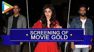 Gold movie Screening hosted by Mouni Roy and Starcast at PVR Juhu - HUNGAMA