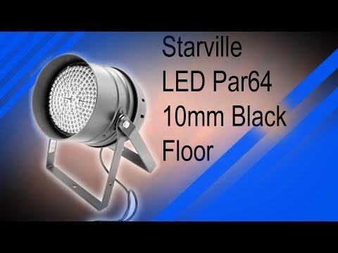 Review + Feautures Stairville LED PAR 64 10 mm black Floor [Deutsch]