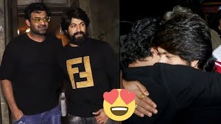 Prabhas Meet To Rocking Star Yash | Prabhas in KGF Promotions | #KGF | TFPC - TFPC