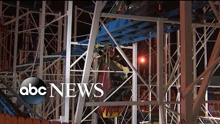 2 people fall 34 feet from derailed roller coaster - ABCNEWS