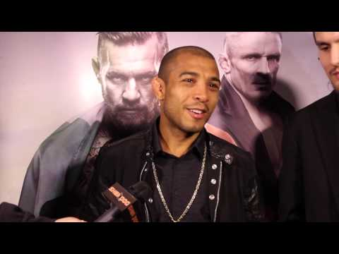 Interview with Jose Aldo at UFC Boston
