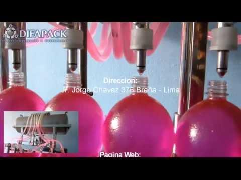 Máquina llenadora de botellas