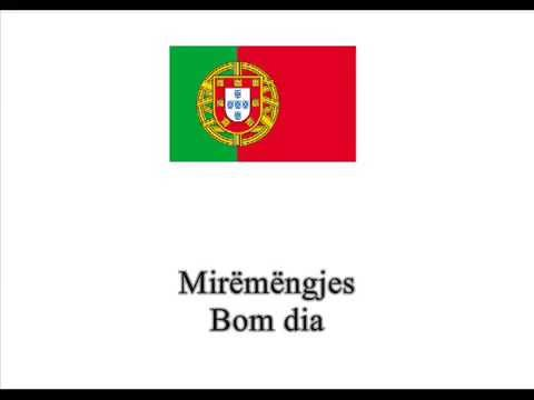 1.Mëso Portugalisht - Përshëndetje
