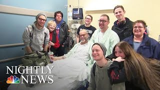 Man Who Wore Shirt Seeking Kidney Donor Finds His Match—And A Friend | NBC Nightly News - NBCNEWS