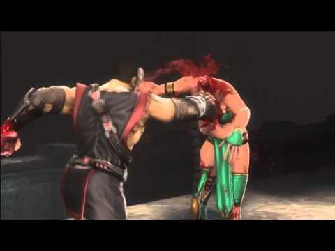 Mortal Kombat 9 Ryona Kano Eat Your Heart Out  Jade Sindel Skarlet Mileena Sonya Blade Kitana