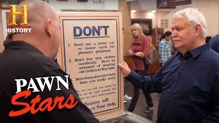 Pawn Stars: Original British WWI Poster (Season 14) | History - HISTORYCHANNEL