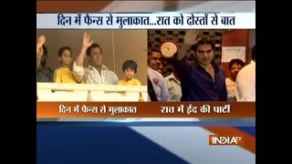 Salman Khan wishes Eid Mubarak to his fans from Galaxy apartment - INDIATV