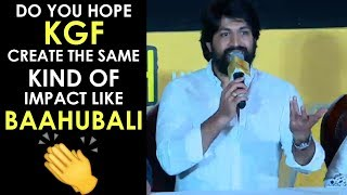 Rocking Star YASH Superb Answers To Media Questions About KGF | KGF Traile Launch | TFPC - TFPC