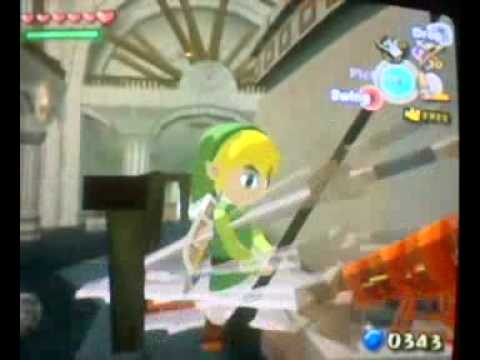 Wind Waker: Glitchy Swords In Hyrule Castle