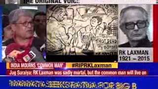 India's best known cartoonist R K Laxman no more - NEWSXLIVE