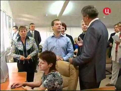 Дмитрий Медведев посетил Марксовский район.