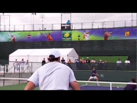 BNP Paribas Open - Returning Ivo Karlovic's Serve