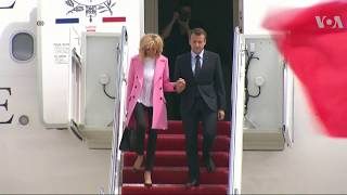 Macron Starting State Visit with Trump - VOAVIDEO