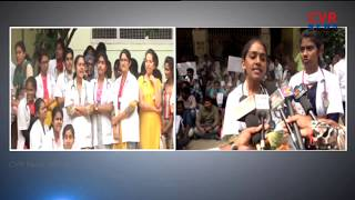 Ruia Hospital Junior Doctors Strike for wages in Tirupati | CVR News - CVRNEWSOFFICIAL