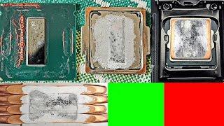 жидкий металл для процессоров высыхает и прикипает