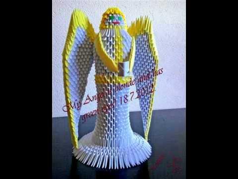 Ангел из оригами