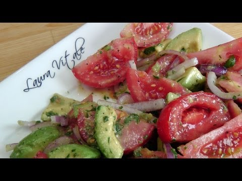 Tomato and Avocado Salad Recipe by Laura Vitale Laura in the Kitchen Ep 188