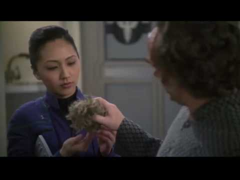 Dr Phlox feeds his pet a tribble