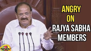 Venkaiah Naidu Angry on Rajya Sabha Members | Parliament Session 2018 | Mango News - MANGONEWS