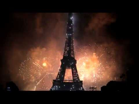 Bastille Day in Paris,  France - Eiffel Tower - July 2011 Fireworks