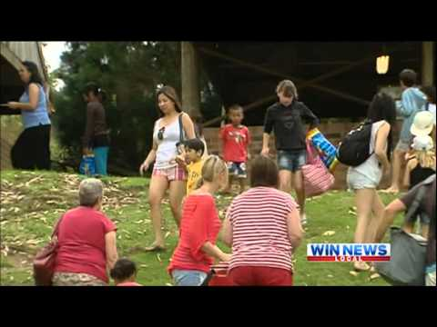 [Win News Illawarra] Easter Egg Hunt at Jamberoo Action Park - 9/4/2012