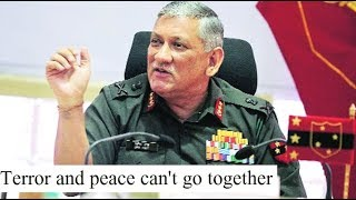 Army chief Rawat says Pak must quit its old habits, says terror and peace can't go together - NEWSXLIVE