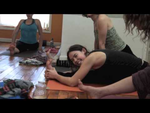 Christina Sell teaches a Yoga workshop in Flagstaff, Arizona