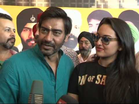 Ajay Devgan and Sonakshi Sinha at PVR Juhu for Son of Sardar SOS Full