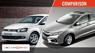 Honda City vs Volkswagen Vento | Video Comparison | CarDekho.com - Honda Videos