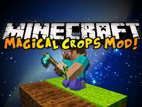 Minecraft Magical Crops Mod - GROW DIAMONDS, NEW FOOD, & MORE! (HD)