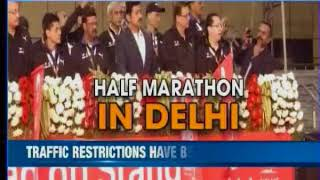 Half marathon in Delhi: 35,000 people signed up to participate in event - NEWSXLIVE