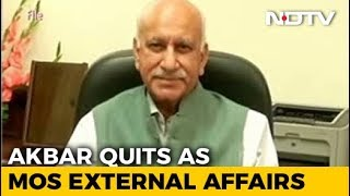 Union Minister MJ Akbar Resigns Over #MeToo Allegations - NDTV