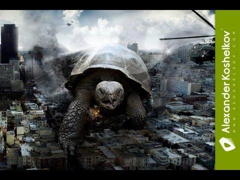Speed Art - Turtle Under Attack / Adobe Photoshop CS5