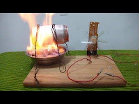 Como hacer un generador de energía eléctrica (Maqueta demostrativa)