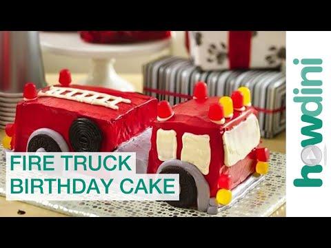 """Торт """"Пожарная машина"""" для мальчика, на день рождения"""
