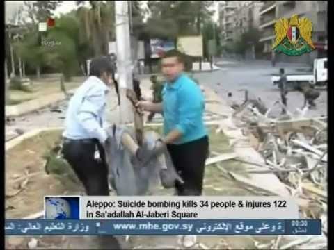 Syria News 3.10.2012, 34 Martyred 122 Injured in Aleppo Terrorist Bombings, terrorist leaders killed