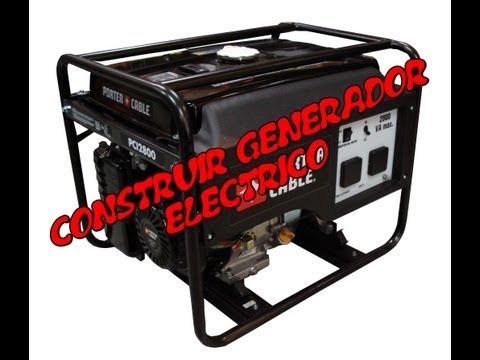 Pequeño generador eléctrico casero