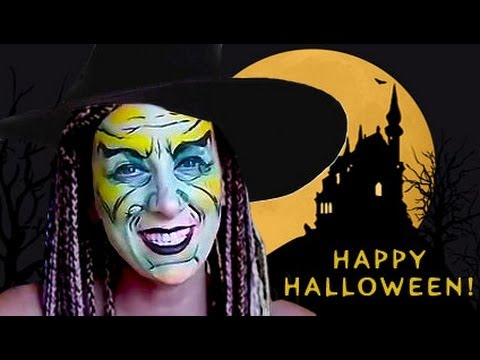 HALLOWEEN MAKEUP: WITCH FACE PAINTING TUTORIAL