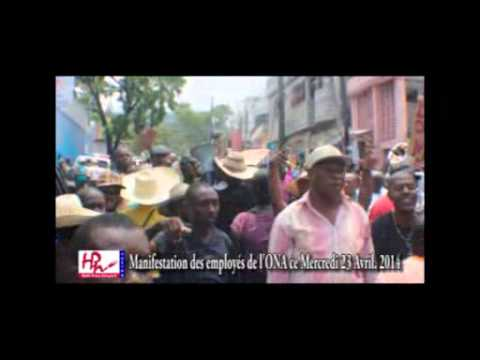 VIDEO-Haiti-Protestation: Manifestation devant l'ONA (23.04.14)