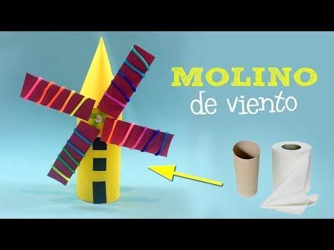Molino de viento casero   Manualidades con reciclaje