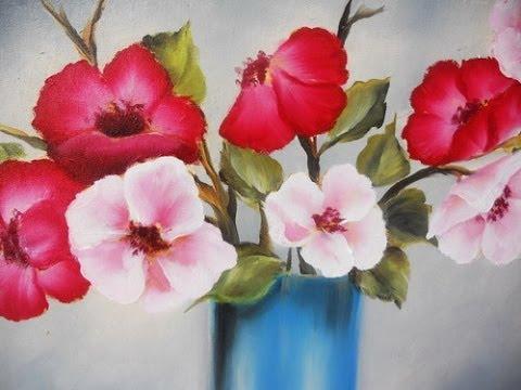 Como pintar flores en Óleo Pinceladas Silvia Mongelos