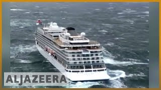 🇳🇴 Stranded Norway cruise ship towed to port | Al Jazeera English - ALJAZEERAENGLISH