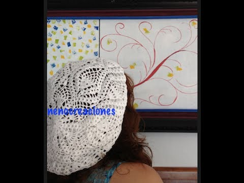 1 DE 7 COMO TEJER GORRO BOINA DISEO PIAS GANCHILLO CROCHET, DIY TUTORIAL
